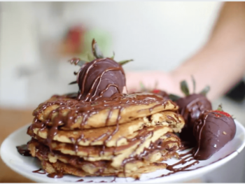 chocolate stuffed pancakes