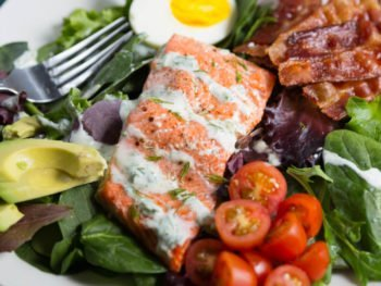 Salmon BLT Cobb Salad